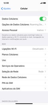 Como ativar e desativar o roaming de dados - Apple iPhone X - Passo 3