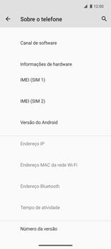 Como encontrar o número de IMEI do seu aparelho - Motorola Edge - Passo 4
