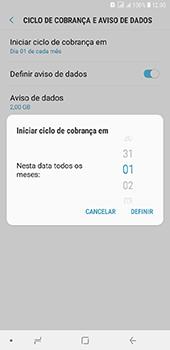 Como definir um aviso e limite de uso de dados - Samsung Galaxy J8 - Passo 7
