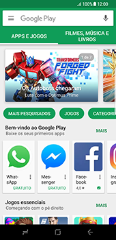 Como baixar aplicativos - Samsung Galaxy S8 - Passo 7