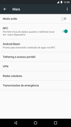 Como ativar e desativar o modo avião no seu aparelho - LG Google Nexus 5X - Passo 4
