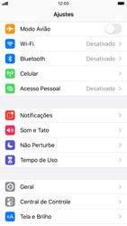 Como ativar e desativar o modo avião no seu aparelho - Apple iPhone 8 - Passo 2