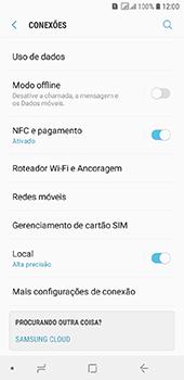 Como selecionar o tipo de rede adequada - Samsung Galaxy J6 - Passo 4