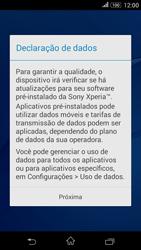 Como configurar pela primeira vez - Sony Xperia E4G - Passo 12