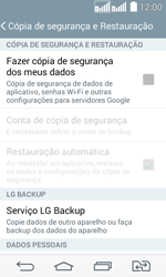 Como restaurar as configurações originais do seu aparelho - LG G2 Lite - Passo 6
