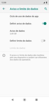 Como definir um aviso e limite de uso de dados - Motorola Moto G7 Play - Passo 11