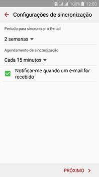 Como configurar seu celular para receber e enviar e-mails - Samsung Galaxy J7 - Passo 8