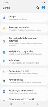 Como restaurar as configurações originais do seu aparelho - Samsung Galaxy Note 20 5G - Passo 4