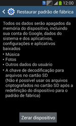 Como restaurar as configurações originais do seu aparelho - Samsung Galaxy Core Plus - Passo 7