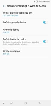 Como definir um aviso e limite de uso de dados - Samsung Galaxy J4+ - Passo 12