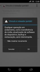 Como usar seu aparelho como um roteador de rede Wi-Fi - Sony Xperia E4G - Passo 12