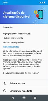 Como atualizar o software do seu aparelho - Motorola Moto G7 - Passo 8