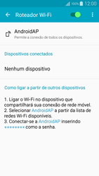 Como usar seu aparelho como um roteador de rede Wi-Fi - Samsung Galaxy A5 - Passo 10
