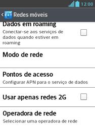 Como configurar a internet do seu aparelho (APN) - LG Optimus L3 II - Passo 6