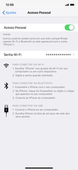 Como usar seu aparelho como um roteador de rede Wi-Fi - Apple iPhone XR - Passo 7