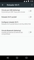 Como usar seu aparelho como um roteador de rede Wi-Fi - Motorola Moto G5 - Passo 8
