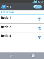 Como configurar uma rede Wi-Fi - LG Optimus L3 II - Passo 5