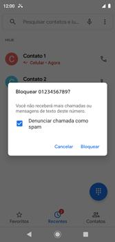 Como bloquear chamadas de um número específico - Motorola Moto G7 Play - Passo 7