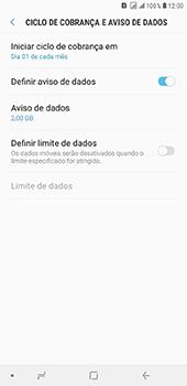 Como definir um aviso e limite de uso de dados - Samsung Galaxy J8 - Passo 6
