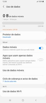 Como definir um aviso e limite de uso de dados - Samsung Galaxy A32 5G - Passo 5