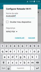 Como usar seu aparelho como um roteador de rede Wi-Fi - Samsung Galaxy S6 - Passo 7