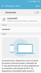 Como usar seu aparelho como um roteador de rede Wi-Fi - Samsung Galaxy S7 - Passo 10