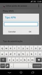 Como configurar a internet do seu aparelho (APN) - Sony Xperia E4G - Passo 13