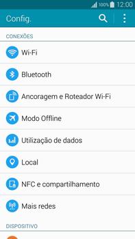 Como ativar e desativar uma rede de dados - Samsung Galaxy Note - Passo 3