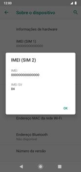 Como encontrar o número de IMEI do seu aparelho - Motorola Moto G7 Power - Passo 8