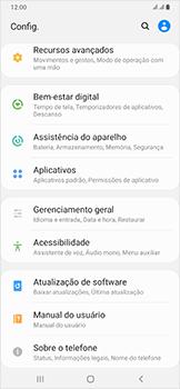 Como encontrar o número de IMEI do seu aparelho - Samsung Galaxy A50 - Passo 3