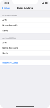 Como configurar a internet do seu aparelho (APN) - Apple iPhone XR - Passo 6