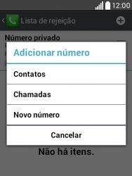 Como bloquear chamadas de um número específico - LG L20 - Passo 8