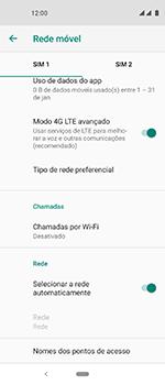 Como selecionar o tipo de rede adequada - Motorola One Vision - Passo 7