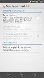 Como restaurar as configurações originais do seu aparelho - Sony Xperia SP - Passo 5