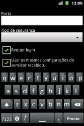 Como configurar seu celular para receber e enviar e-mails - Huawei U8667 - Passo 14