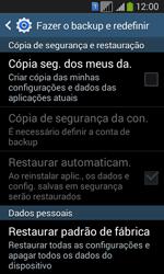 Como restaurar as configurações originais do seu aparelho - Samsung Galaxy Core Plus - Passo 6
