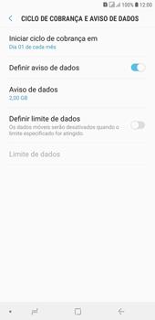 Como definir um aviso e limite de uso de dados - Samsung Galaxy J4+ - Passo 11