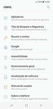 Como atualizar o software do seu aparelho - Samsung Galaxy S8 - Passo 4