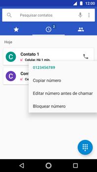 Como bloquear chamadas de um número específico - Motorola Moto G5s Plus - Passo 5