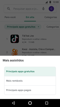 Como baixar aplicativos - Motorola Moto G5s Plus - Passo 7