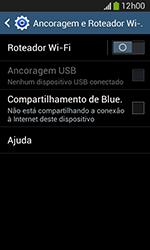 Como usar seu aparelho como um roteador de rede Wi-Fi - Samsung Galaxy Grand Neo - Passo 5