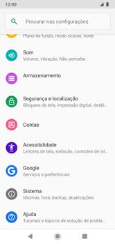 Como encontrar o número de IMEI do seu aparelho - Motorola Moto G7 Power - Passo 3