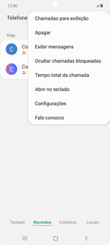 Como bloquear chamadas de um número específico - Samsung Galaxy Note 20 5G - Passo 6