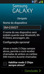 Como configurar pela primeira vez - Samsung Galaxy Core Plus - Passo 15