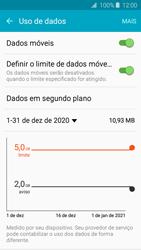 Como definir um aviso e limite de uso de dados - Samsung Galaxy J2 Duos - Passo 8