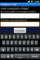 Como configurar seu celular para receber e enviar e-mails - Huawei U8667 - Passo 18