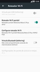 Como usar seu aparelho como um roteador de rede Wi-Fi - Motorola Moto C Plus - Passo 9