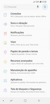 Como configurar uma rede Wi-Fi - Samsung Galaxy S9 - Passo 3