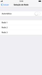 Como selecionar o tipo de rede adequada - Apple iPhone 7 - Passo 5