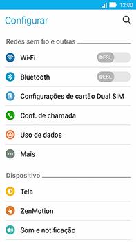 Como ativar e desativar uma rede de dados - Asus ZenFone Go - Passo 3
